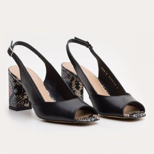 Czarne sandały bez pięty