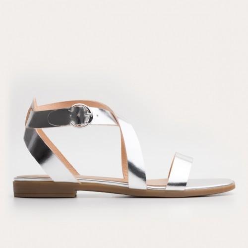 Srebrne sandały