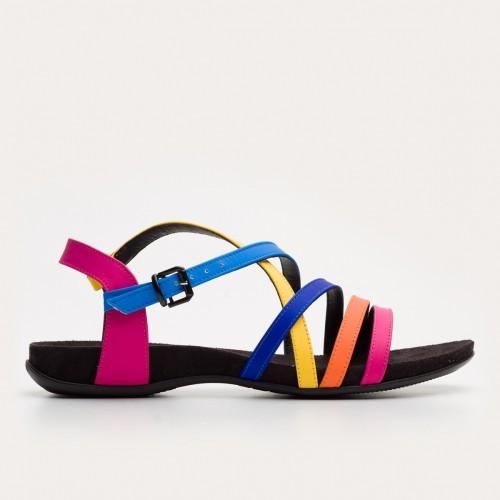 Multi-kolorowe sandały