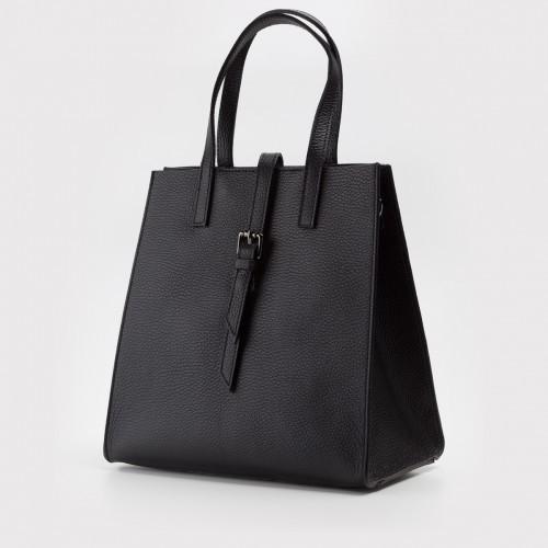 Czarna skórzana torebka